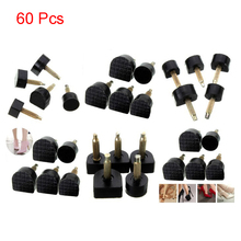 60pcs Women Durable Tool Stoppers High Heel Tips Protector Dowel Lifts Anti Slip Repair Shoes Hard Lady Replacement Taps
