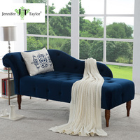 Jennifer Taylor Harrison Estate Blue Chaise Lounge 66 W X 29 D X 30 H