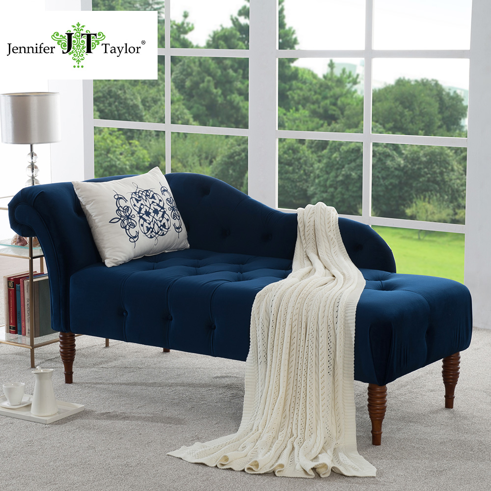 Jennifer Taylor, Harrison Estate Blue Chaise Lounge,66W X 29D X 30H
