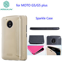 Чехол для Motorola Moto G5 NILLKIN Искра супер тонкий раскладной крышка кожаный чехол для Motorola Moto G5 Плюс с Розницу пакет