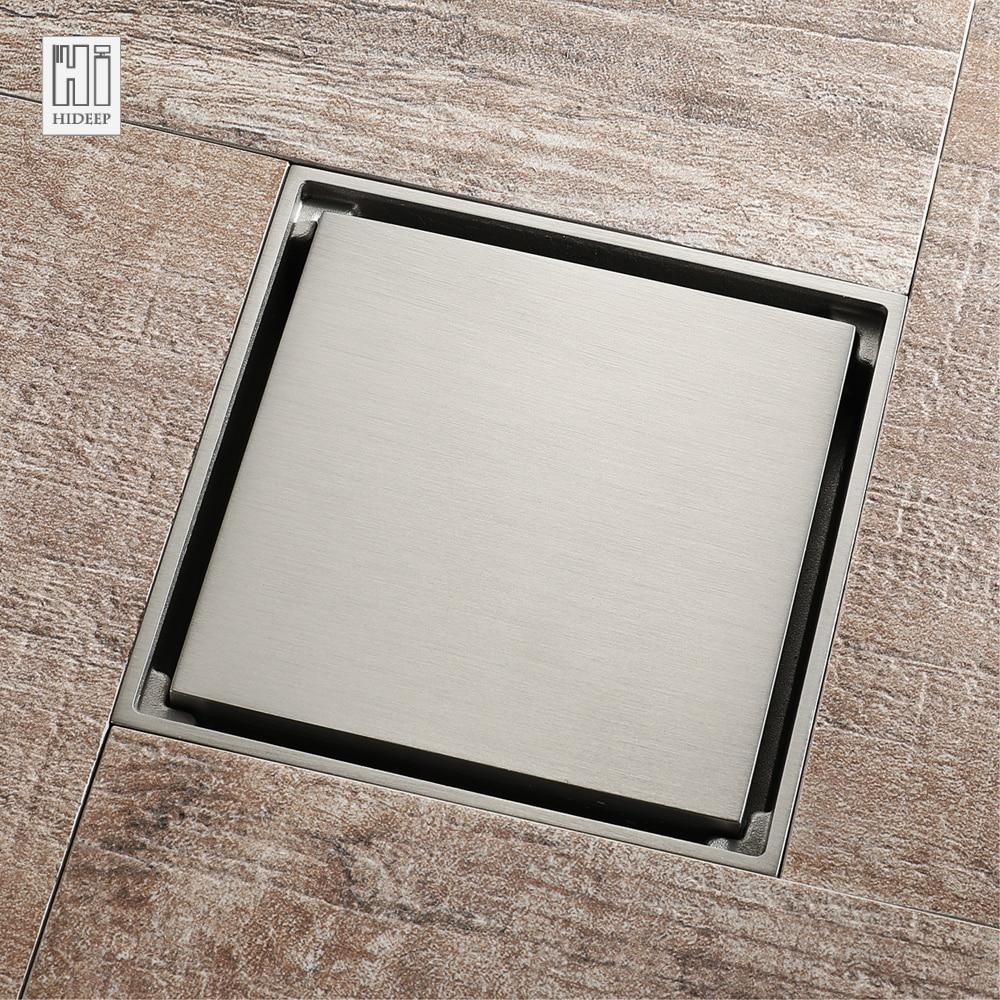 HIDEEP Brass Bathroom Classic Common Floor Drain Anti odor ...