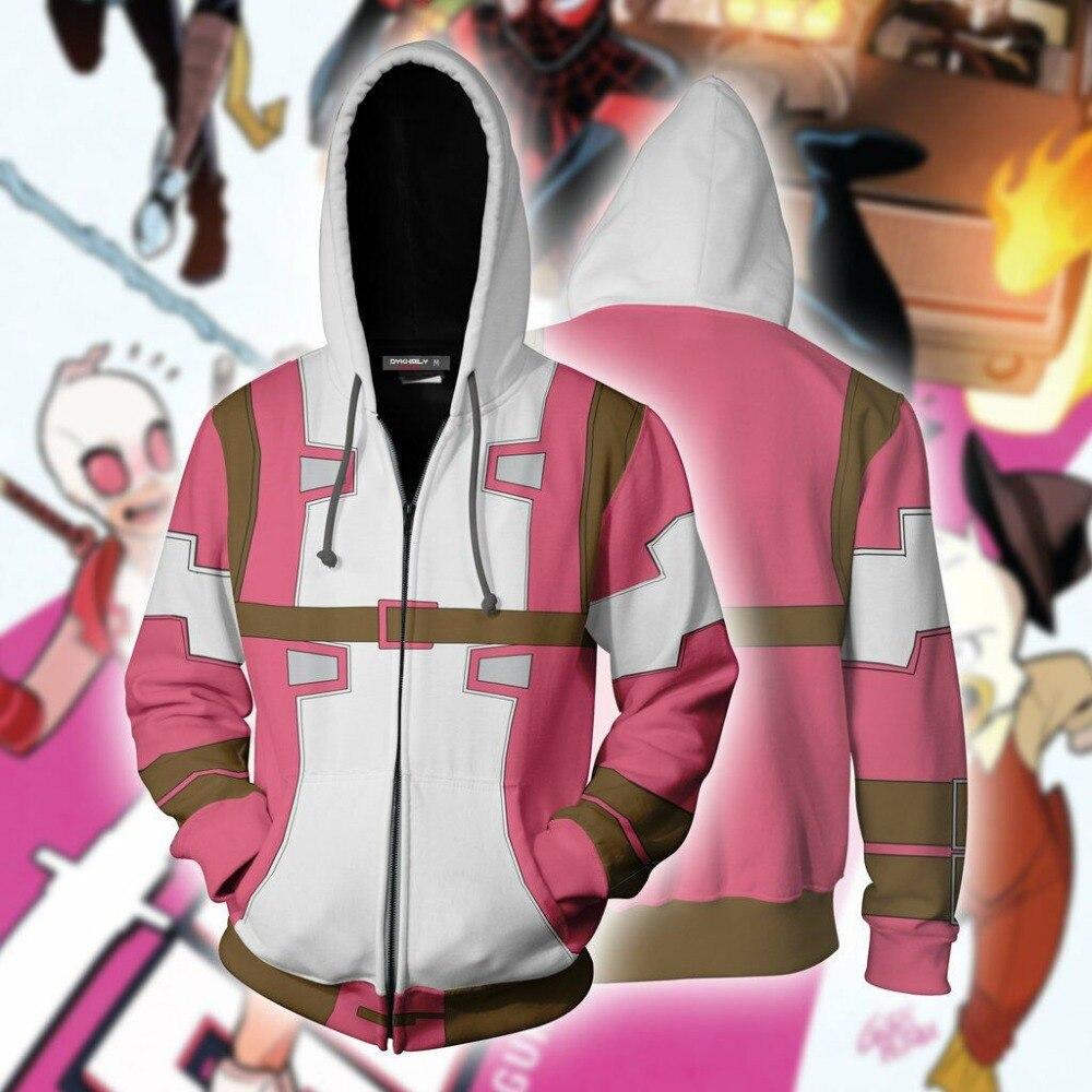 Deadpool 2 Wade Winston Wilso Cosplay Costumes Deadpool Hoodies 3D Print Hoodies Sweatshirt Spring Streetwear Outwear Zipper