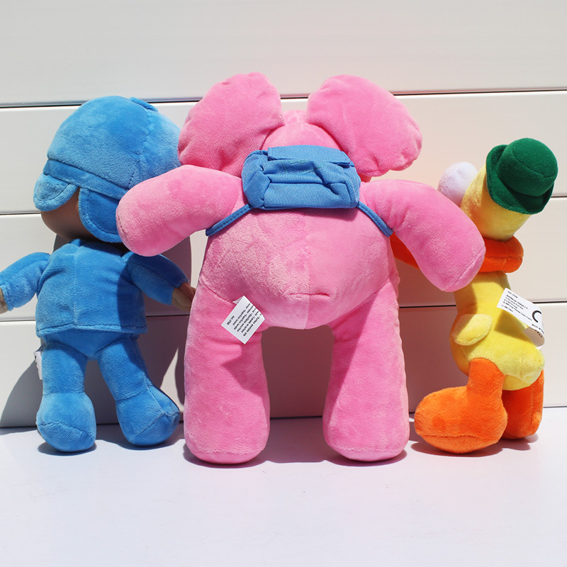 1Pcs Pocoyo Elly Pato Duck Elephant Plush Toy Stuffed Animals Plush Doll Toys Great Gift 19cm/25cm/27cm