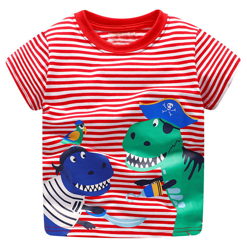 Baby Boy Tops Children T shirts Fille 2018 Brand Kids Summer T-shirt for Boys Clothes Animal Cotton Clothing Boys Tee Shirt