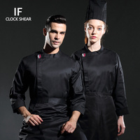 Men Shirt Full Sleeve Autumn Chef Uniform Cook Costumes Dining Hall Restaurant Breathable Food Service Men Tops chef jacket