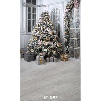 Christmas Background Vinyl Photography Backdrops Computer Printed Christmas Tree For Photo Studio ST 597