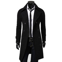 New Arrivals Autumn Winter Trench Coat Men Brand Clothing Cool Mens Long Coat Top Quality Cotton Male Overcoat M 3XL