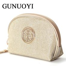 GUNUOYI Travel Cosmetic Bag Portable Women Handbag Make up Toiletry Bag Pencil Pouch Beauty Wash Bags Storage Purse Bag BY01