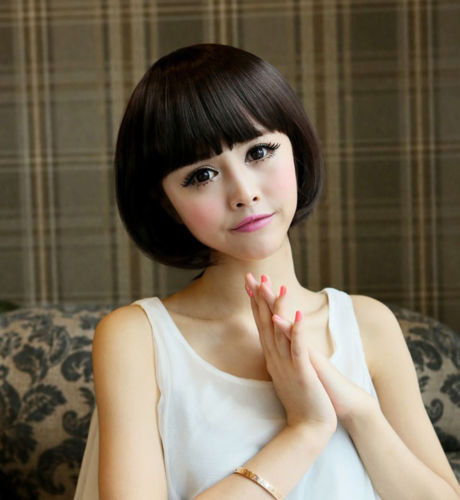RH2860 discount 30% NEW Short Straight Hair Black Women's Girls Natural Hair Cosplay Full Wigs  (D Special discount 35%)
