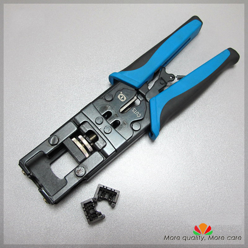 Multifunctional modular tools jack terminal tool Disposable wire and cut 8 wires Simplified cable press 90