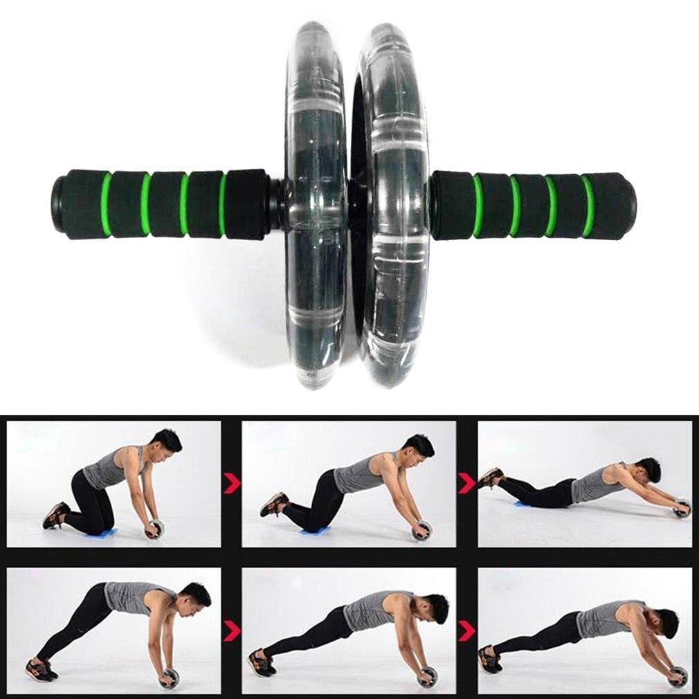 200mm Double-roues entraîneur de muscles roue abdominale Silencieux Corps Constructeur Gym Outil équipement de fitness Exercice Accessoires