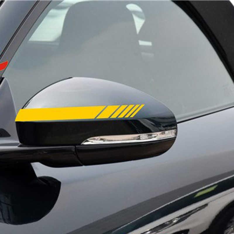 2 سيارة مرآة الرؤية الخلفية المشارب ملصق يدوي الصنع 15.3*2 سنتيمتر لسيتروين C-Quatre C-Triomphe بيكاسو C1 C2 C3 C4 C4L C5 الإليزيه/DS-serie