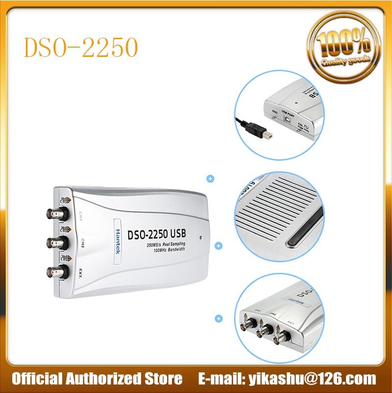 Hantek DSO2250 PC USB Oscilloscope 2 Digital Channels DSO 2250 Hantek 100MHz Bandwidth 250MSa/s sample rate DSO2250 in stock-in Oscilloscopes from Tools    1