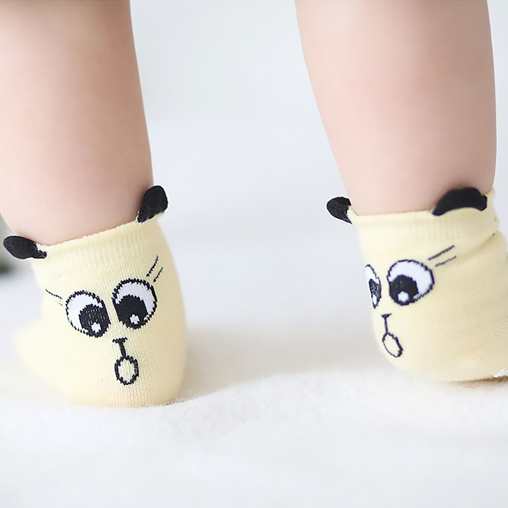 Baby Toddler Cotton Anti-slip Autumn Winter Cute Socks Asymmetry Spring Cartoon