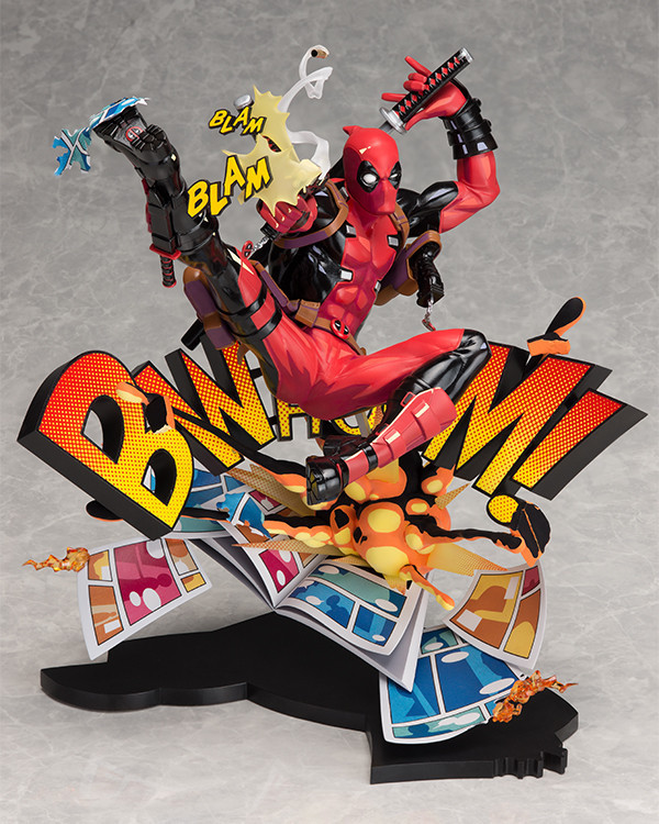 New X-men Marvel Deadpool Breaking The Fourth Wall Blam Complete Figure Model Toy 23cm marvel action figures marvel universe blam deadpool figure toys deadpool breaking the fourth wall statue figurine 20cm