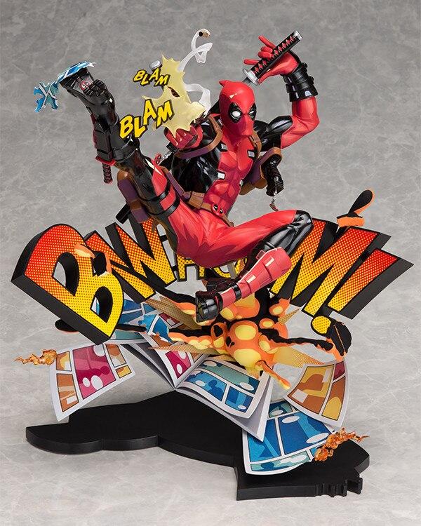 Nouveau X-hommes Marvel Deadpool Briser Le Quatrième Mur Blam Complète Figure Modèle Jouet 23 cm