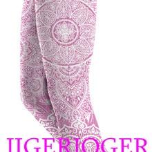 c3a4d2065b014 JIGERJOGER 2019 Spring New High waistband pocket Black white mandala Yoga  Capris Legging Gym 3/