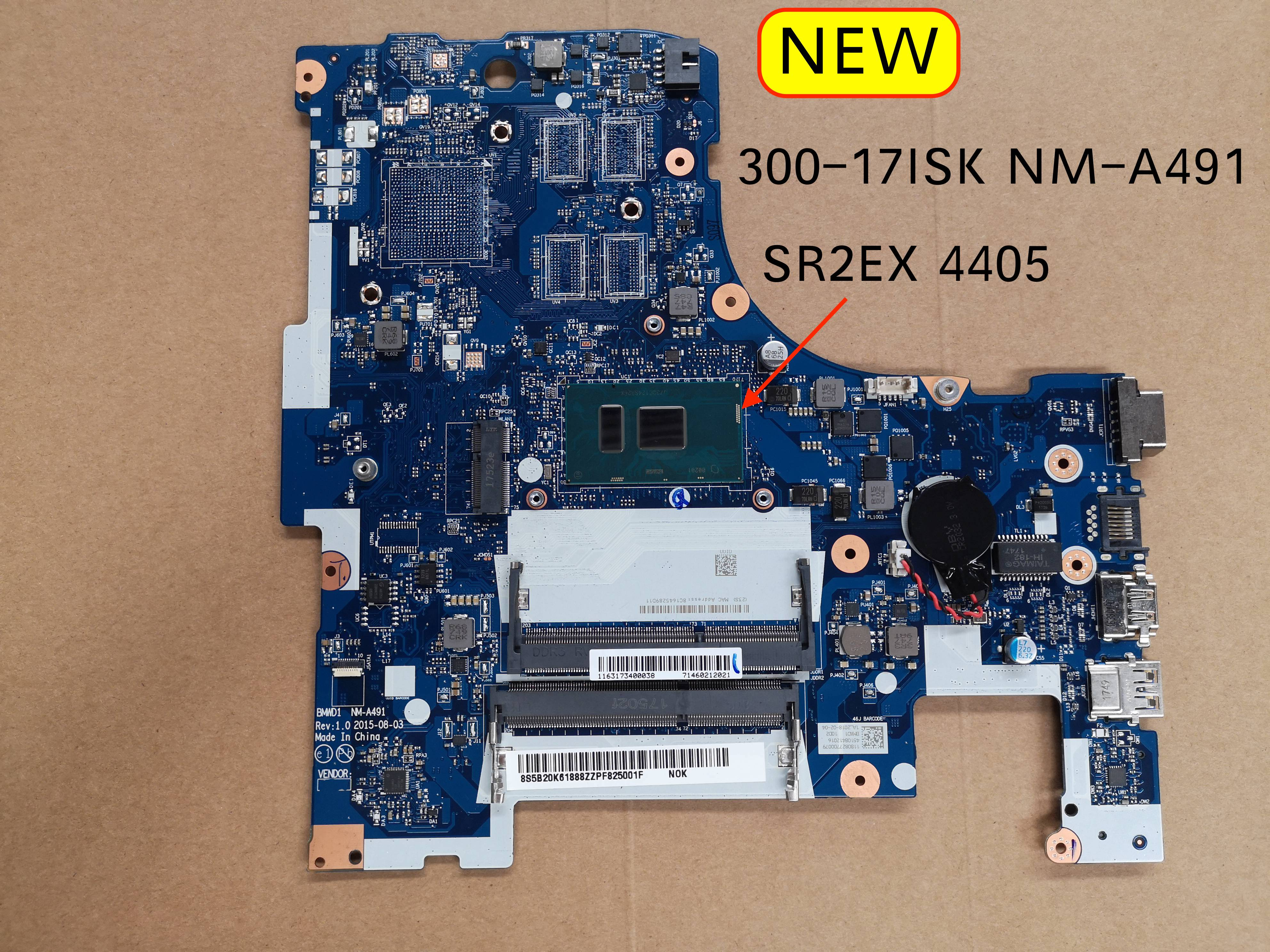 Free Shipping For Lenovo Ideapad 300-17ISK BMWD1 NM-A491 Laptop Motherboard SR2EX 4405U CPU
