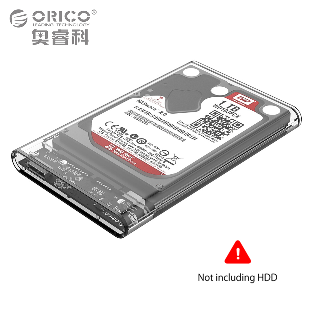 ORICO Direct ORICO 2TB Mobile HDD Enclosure Case USB 3.0 to SATA HDD Hard Drive External Enclosure Case without screws For Windows/Mac