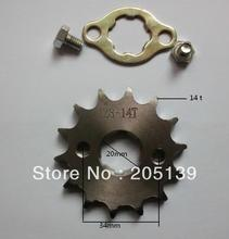NEW 14 t tooth 20MM FRONT ENGINES sprocket FOR 428 CHAIN motorcycle MOTO PIT dirt ATV parts bike