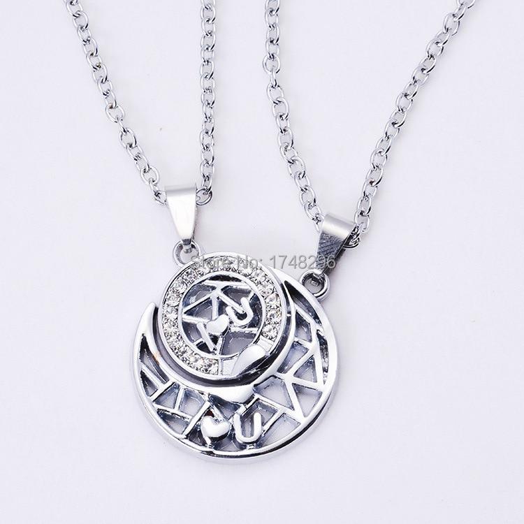 Nouveau cristal soleil et lune couple amoureux pendentif for Baby jewelry near me