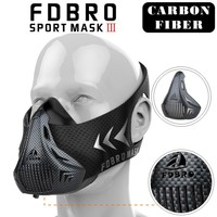 FDBRO Sports Masks Style Black High Altitude Training Conditioning Training Sport Mask 2 0 With Box