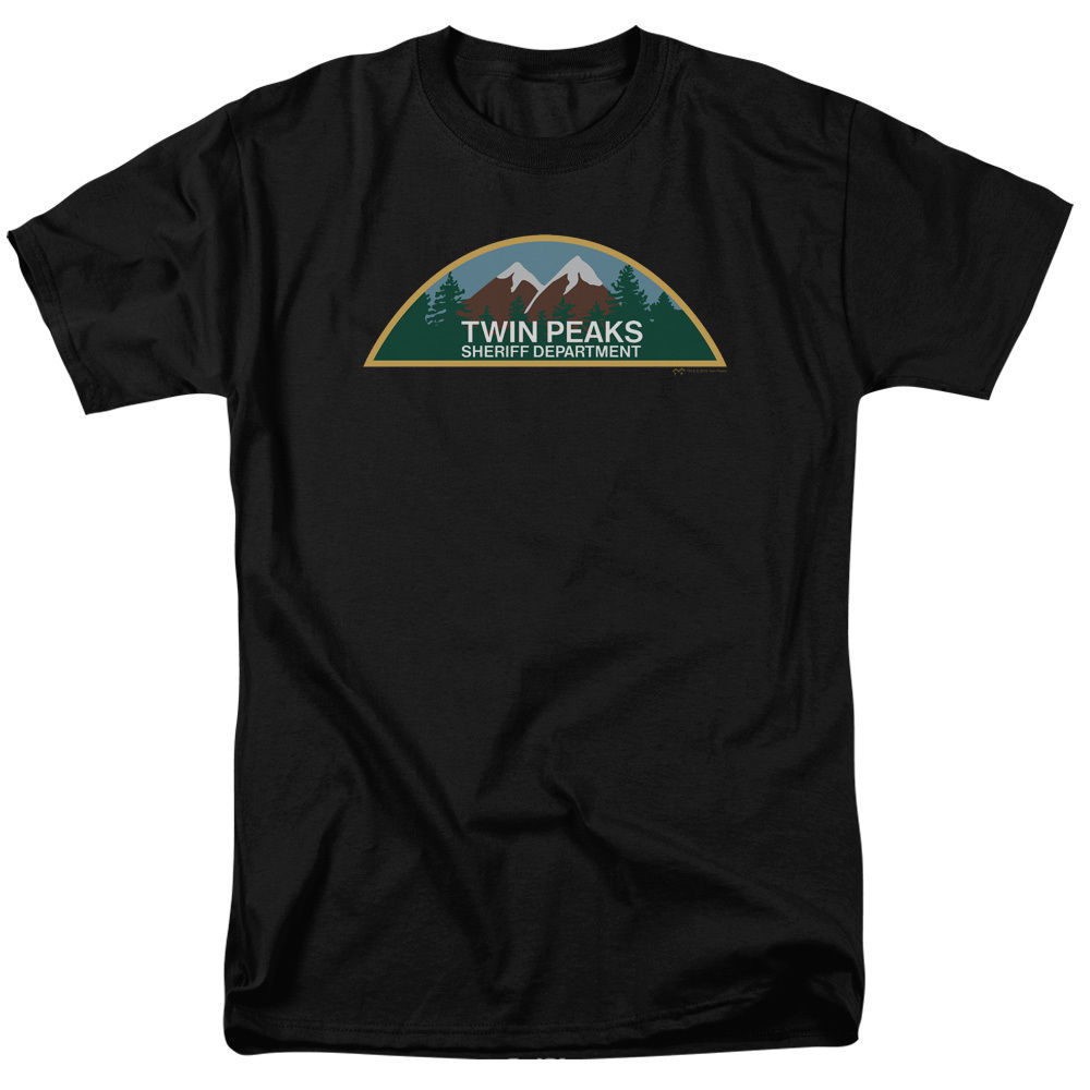 Twin Peaks TV Show SHERIFF DEPARTMENT PATCH Licensed Adult T-Shirt All Sizes