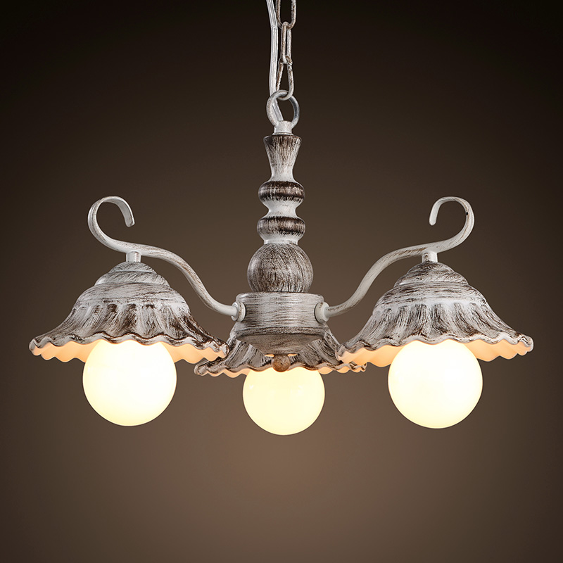 Continental American chandelier lamp living room bedroom lamp European-style led lights resturant chandelier ceiling korean princess wrought lamp iron bedroom led lamp american pastoral style living room children chandelier