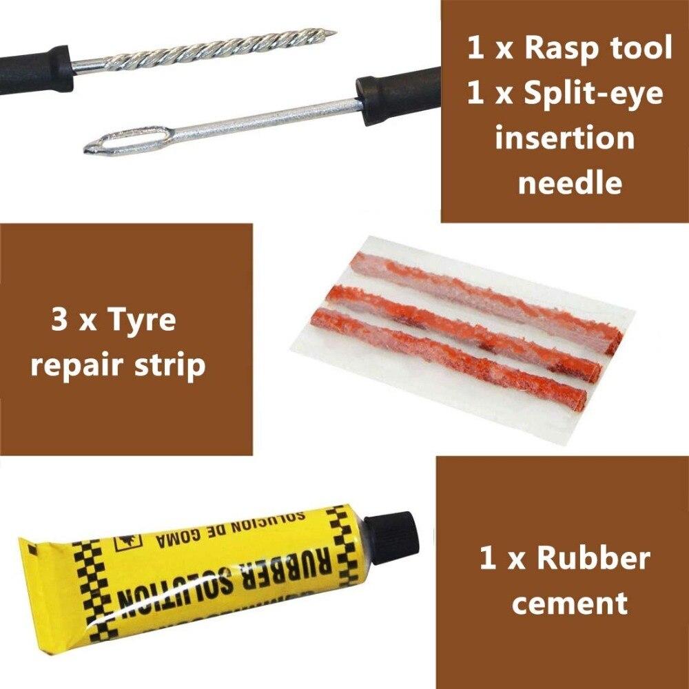 Image 4 - Car Tire Repair Kit   Car Tire Repair Tool Kit For Tubeless Emergency Tyre Fast Puncture Plug Repair Block Air Leaking