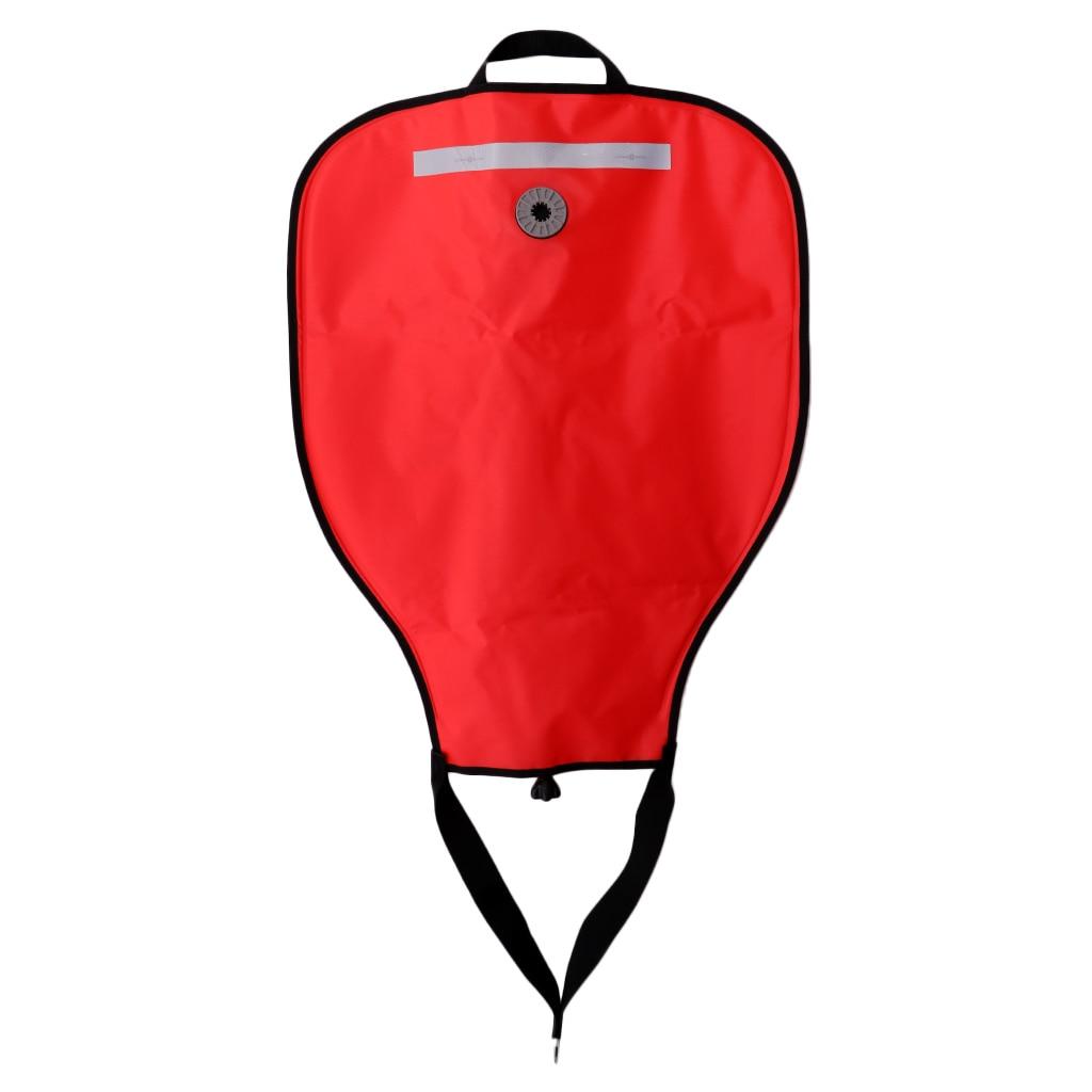 High Visibility Compact Lift Bag With Dump Valve Gear Underwater Scuba Diving Work 50lbs Scuba Diving 50lb Lift Bag