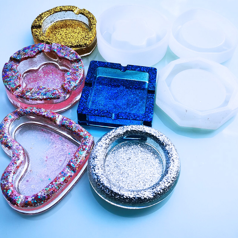 1PC ashtray Craft DIY Transparent UV Resin epoxy Silicone Combination Molds for DIY Making Finding Accessories Jewelry