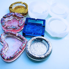 1 pieza de moldes de combinación de silicona epoxi de resina UV transparente DIY para manualidades con Cenicero, accesorios de joyería
