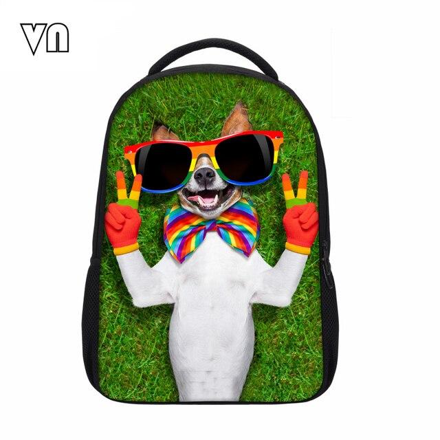 Fashion Mochila Cute Dog Shoulder Bags Printing Backpack Jurassic Park Dinosaur School Backpack Animal Children Laptop Backback