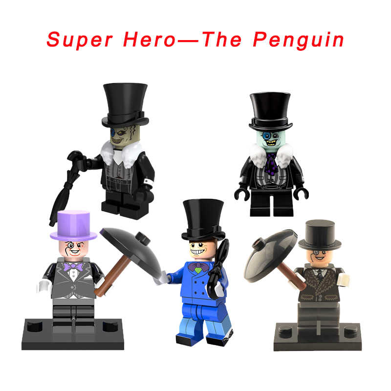Top Hat The Penguin With Umbrella Super Heroes Gotham City Legoelys Batman Movie Star Wars Building Blocks Toy For Kids