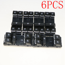 6PCS VW OEM Chrome Driver Side Master Window Switch For Jetta Golf MK5 MK6 GTI Passat B6/3C 5ND 959 857 5K4 959 857