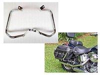 Motorcycle Chrome Rear Saddlebag Guard Crash Bar for Harley HD Softail FLST FLSTC FXST FXSTB FXSTS 2000 & Up 2001 2002 2003 2004