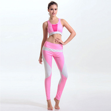 2017 New 3D Printed Fitness Workout Clothing Women's Gym Sports Running Girls Slim Leggings Tops Women Yoga Sets