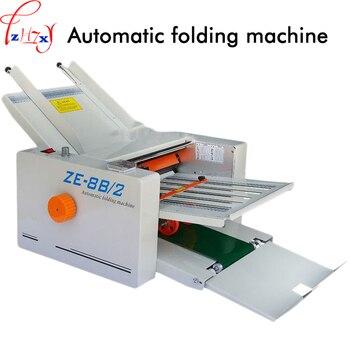 Premier rapide pli ordinateur de bureau automatique lettre/papier dossier, alimente automatiquement et se plie 310*700mm automatique pliage Machine ZE-8B/2