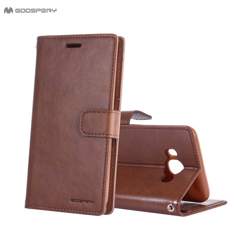 Original Goospery Luxury Stand Wallet Flip Cases For Samsung Galaxy J1 J3 J5 J7 2015 2016 Prime Card Slot Retro Leather Cover