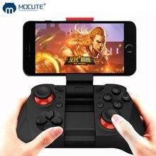 Mocute 050 controle sem fio de videogame, joystick por bluetooth com gatilho para iphone e android, celular pc e smart tv box