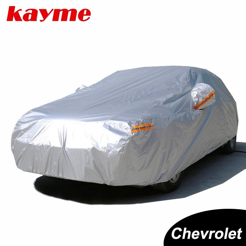 Kayme Водонепроникний повний автомобіль покриває сонячний пил Захист від дощу Автомобільний позашляховик для chevrolet cruze aveo lacetti camaro captiva epica spark