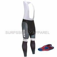 Black Pro Team Men S Long Sleeve Cycling Jersey Bib Shorts 9d Gel Padded Bike Bicycle