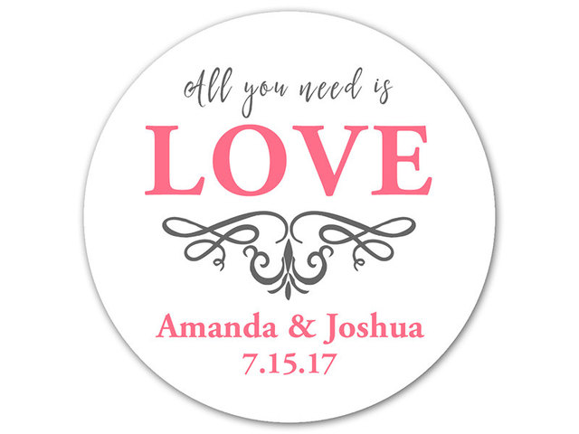 Personalized printing labels custom stickers wedding stickers printed logo transparent clear adhesive round label gift tags