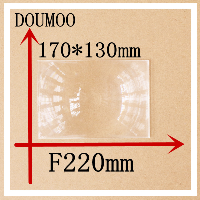 Optical PMMA Fresnel lens 1 pcs / lot 170*130 mm Focal length 220 mm Condenser lens Rectangle Plastic fresnel lens