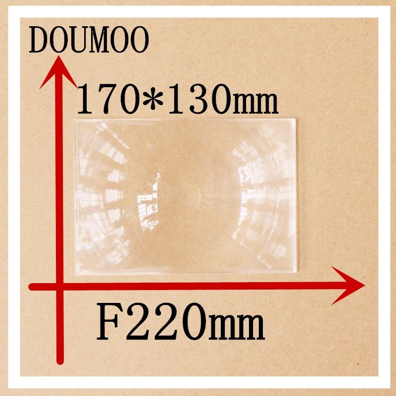 Optical PMMA Fresnel lens 1 pcs / lot 170*130 mm Focal length 220 mm Condenser lens Rectangle Plastic fresnel lens