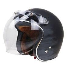 Professional motorcycle bubble shield Vintage helmet DIY glass 3 pin buckle