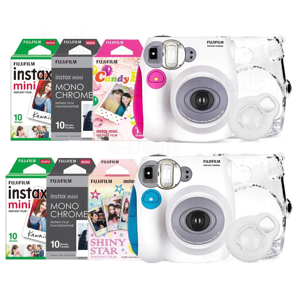 100 Authentic Fujifilm Instax Mini 7s Instant Photo Camera Set with 10 Sheets Fuji Instax Mini