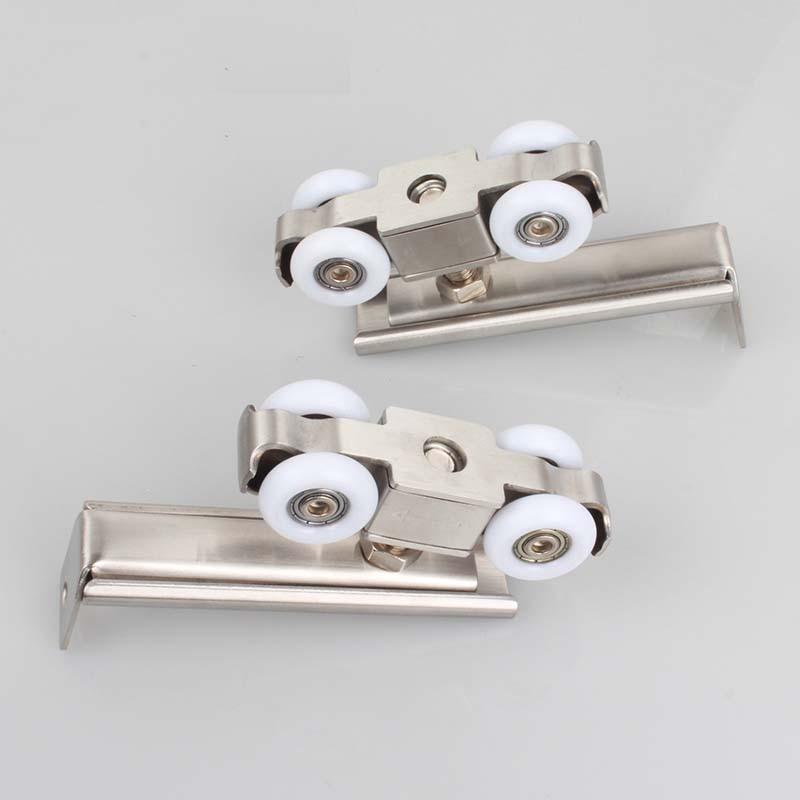 free shipping door roller ultra-quiet wooden furniture sliding door pulley hanging track nylon wheel glass bearing door hardware все цены