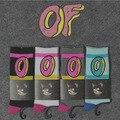 Odd Future Donut Calcetines Hip Hop Para Mujer Para Hombre Vestido Largo Lindo de la Historieta Calcetines de Algodón Marca Chaussette Ocasional Calcetines de Arranque