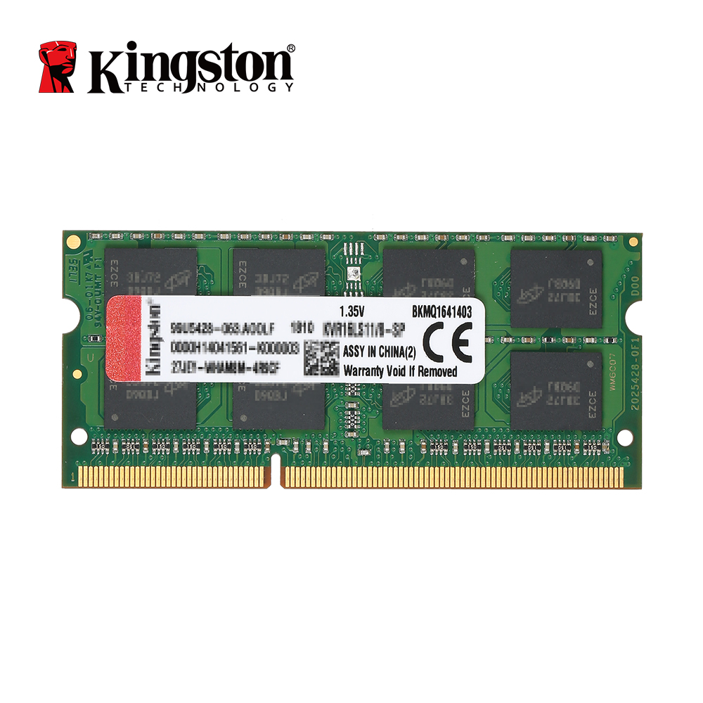 Original Kingston 4GB 8GB KVR Notebook RAM 1600MHz 4G 1.35V Non ECC DDR3 PC3L-12800 CL11 204 Pin SODIMM Motherboard Memory kingston valueram 8gb 1600mhz ddr3 pc3 12800 non ecc cl11 sodimm notebook memory kvr16s11 8